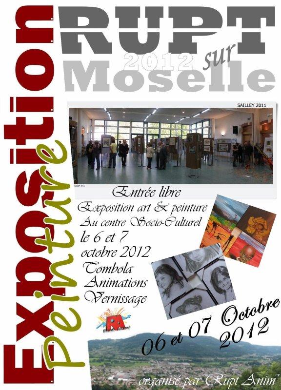 Exposition arts & peintures 2012 à RUPT sur Moselle