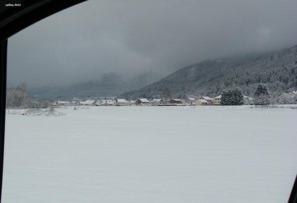 Neige sur la commune de RUPT sur Moselle
