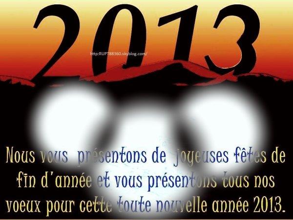 CARTE DE VOEUX 2013