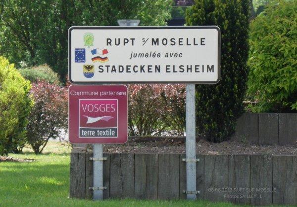 Le PANNEAU Stadecken-elsheim jumelée avec rupt sur moselle