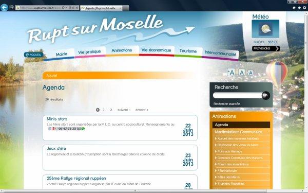 Le site officiel de la commune de RUPT sur Moselle
