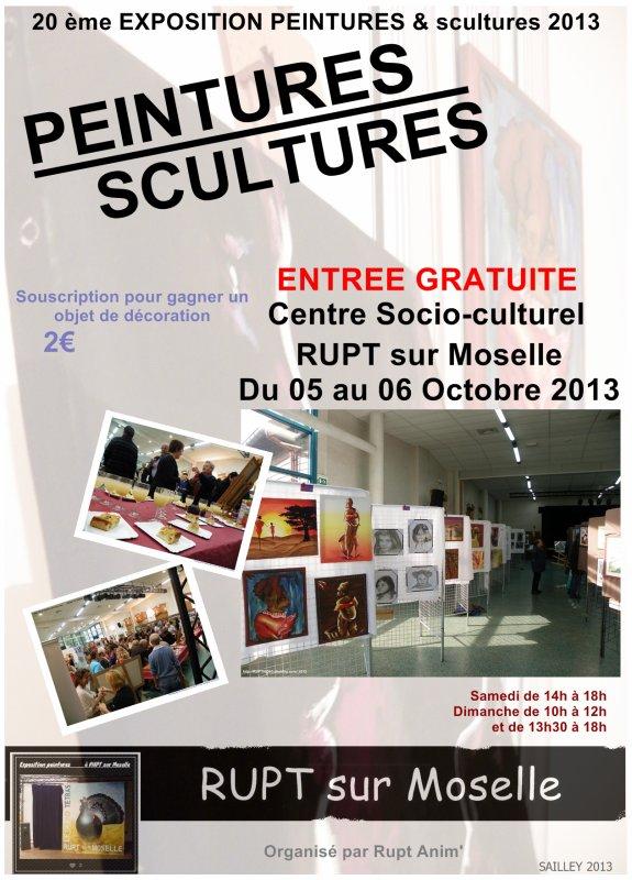 20ème Exposition de peintures & scultures à RUPT sur moselle