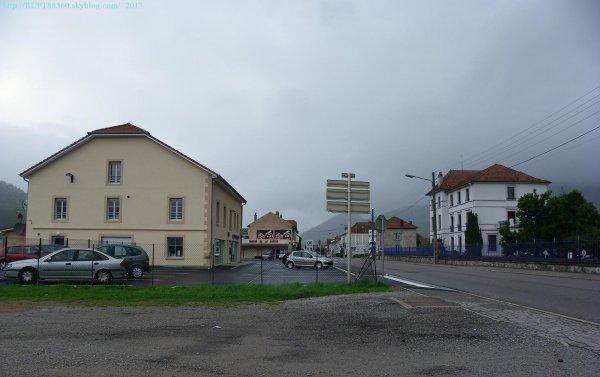 rue d'alsace a la hauteur du crédit agricole de rupt sur moselle