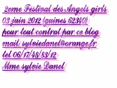 03 juin 2012   2eme  festival des Angels girls