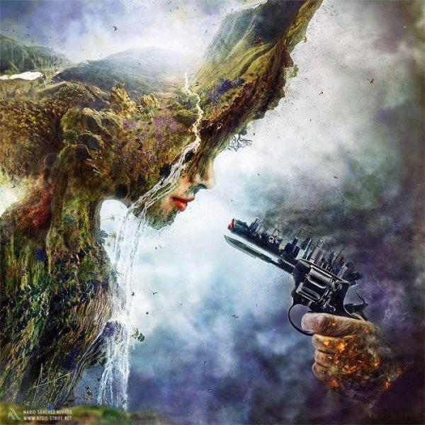 La terre des hommes que les hommes abandonnent...