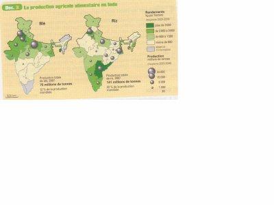 Inde production agricole alimentaire, Manuel d'Histoire-Géographie-Education Civique 2nde Bac Pro CASTEILLA