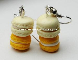 Boucles-d'oreilles Doubles Macarons