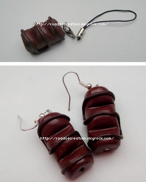 Boucles-d'oreilles et Bijoux de portable Kinder Bueno