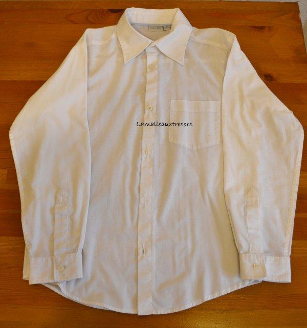 Chemise garçon 12 ans grise anthracite blanche violette neuve