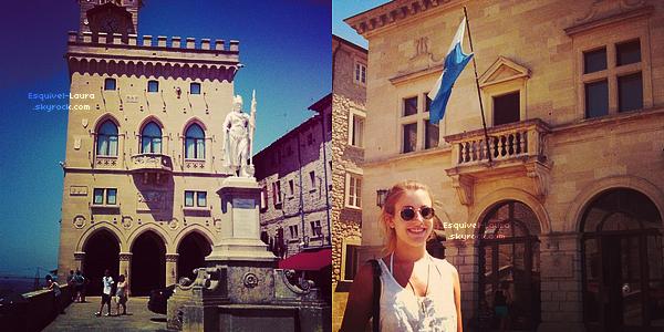 08 Aout 2012  : Voici de nouvelles photos souvenirs de quand Lau' était partie à San Marino.