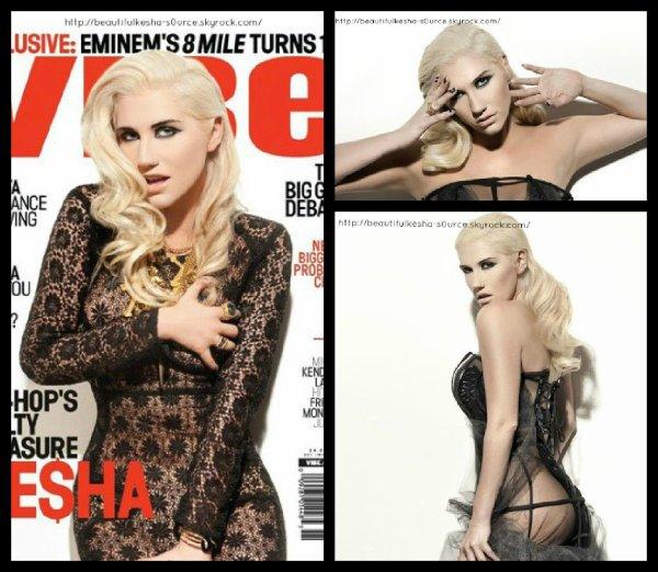 """Kesha Dans le magazine Américain """"VIBE"""""""