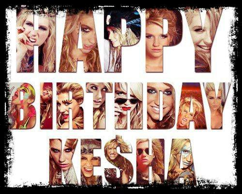 Happy Fckin Birthday Ke$ha ! ♥♥