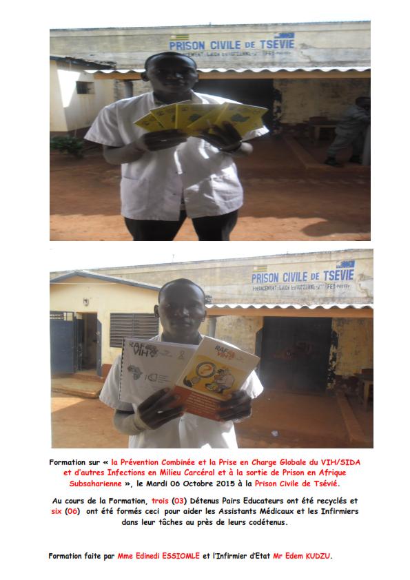 Formation sur la Prévention combinée et la Prise en Charge Global du VIH/SIDA et d'autres Infections en milieu Carcéral et à la Sortie de Prison en Afrique Subsaharienne.