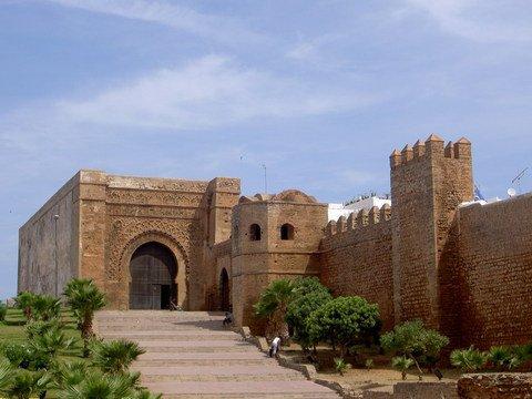 La grande porte de la kasbah des Oudayas Rabat