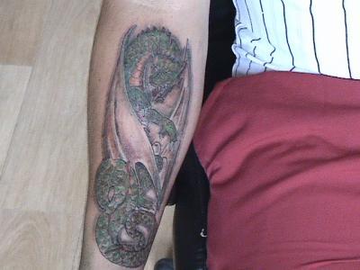 Dragon Medieval Avant Bras Mes Tattoos