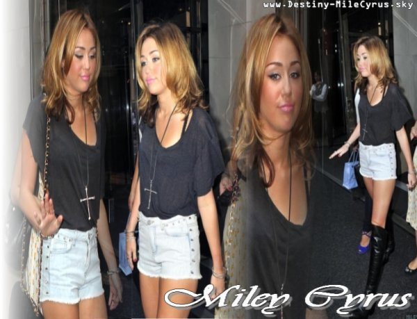 Miley Sortant A new York , Tu la Trouves Comment ?