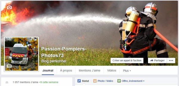 Passion-Pompiers73 rejoint Facebook...
