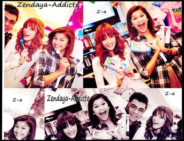 Zendaya-Addicte ; Zendaya , Bella Thorne & Deuce Martinez ;)