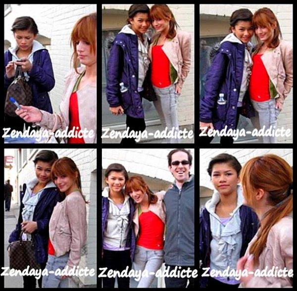 Zendaya-Addicte ; Zendaya & Bella thorne , restent proche en visitant les villes de Toranto Le samedi 9 avril ( l`apres - midi )