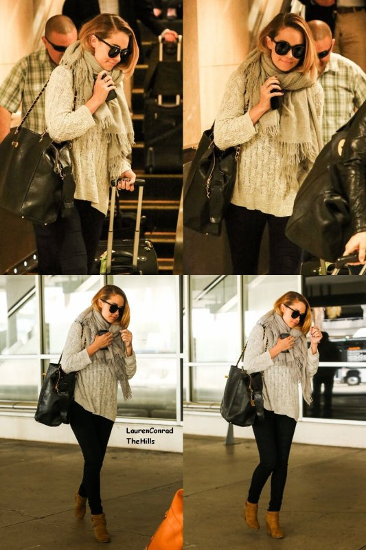 Lauren Conrad a atterri à l'aéroport de LAX à Los Angeles le mercredi (8 mai).