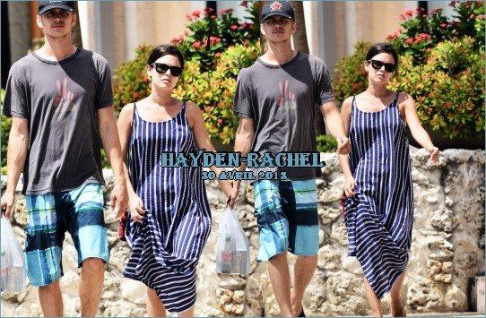 Hayden et Rachel à la plage à Barbados le 12 avril 2013 et dans la rue à Barbados le 30 avril 2013.