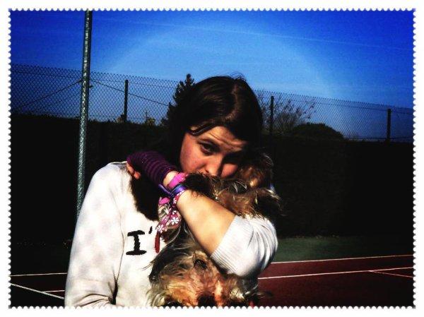 Moi et mon chien <3
