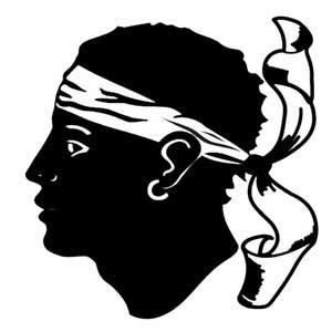"""drapeau corse """"tête de maure"""""""