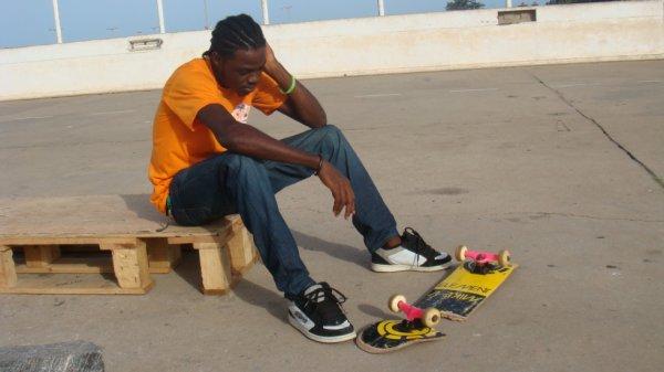 Broken skate,broken heart.