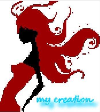 femme noir et rouge