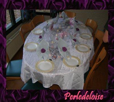 Tables de notre St valentin en famille!