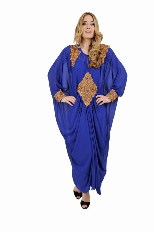 Royal Blue Maxi Kaftan Dress