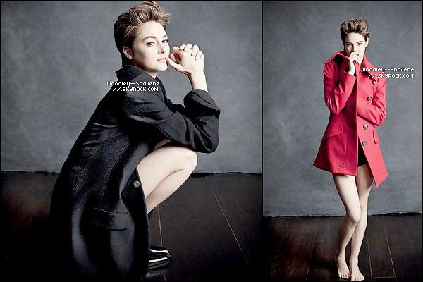 """.   Découvrez un photoshoot de Shailene, réalisé pour """"Empire Magazine"""" effectué à Londres, en Novembre dernier.   ."""