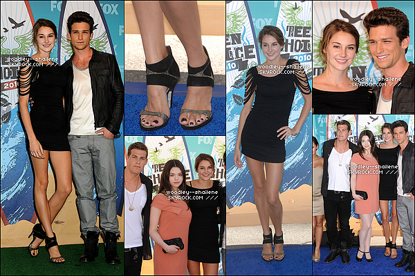".  Ceci est un article flashback.  8 aout 2010 • Shailene Woodley, vêtue d'une jolie robe, à assistés au Teen choice awards.  Shailene à posée avec quelques acteurs du cast de ""The secret life of the american teenager, dont le beau Daren Kagasoff.   ."