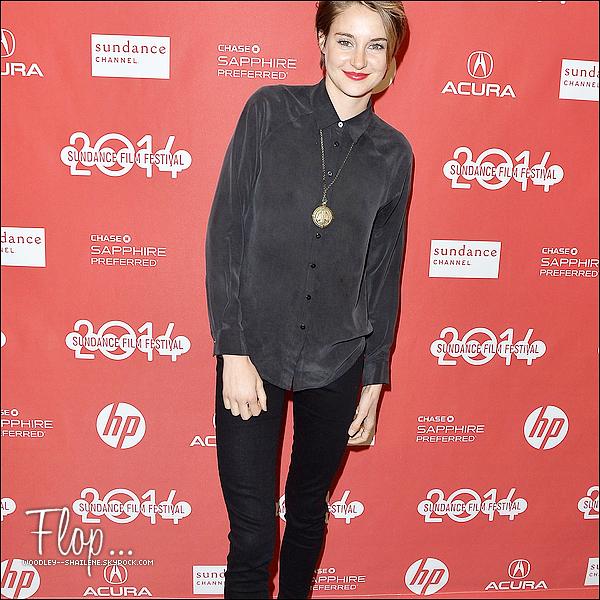 """.   20 Janvier 2014 : Shailene était présente à la première de son film """"White Bird in a Blizzard""""  ."""
