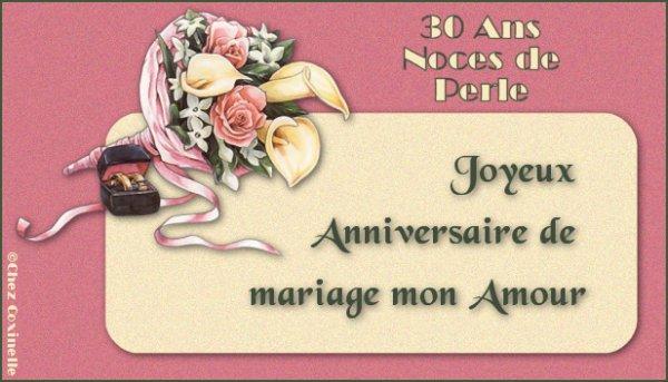30ans mariage noces de perle