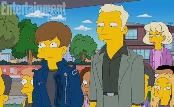 Justin Bieber dans les Simpson <3