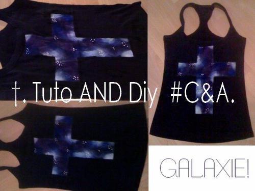 #DIY 5; Tee shirt galaxie.