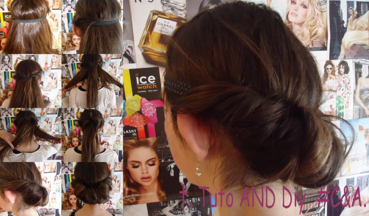 #Tuto Cheveux 3; Coiffure facile avec un headband