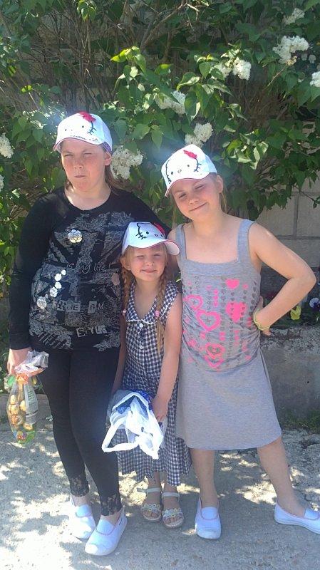ma fille et mes nieces a paque