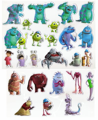 Disney Personnage Monstres Compagnie Is Ses Magnets