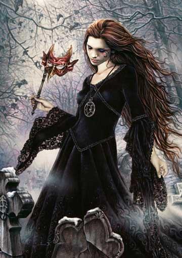 Jolie gothique a la fleur**