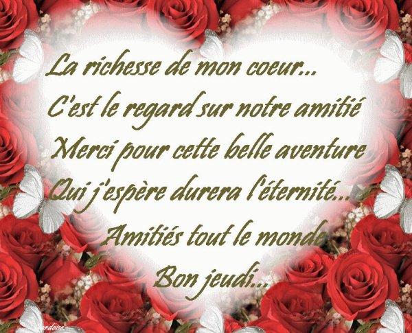 Bonne journee a vous tous et toutes!!!!