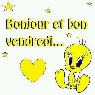 Bonne journee c est bientot le week end!:-)