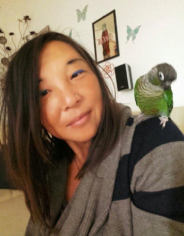 Moi et mon petit perroquet