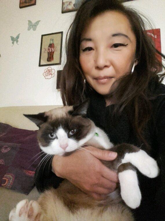 Petit calin avec mon chat ❤❤❤