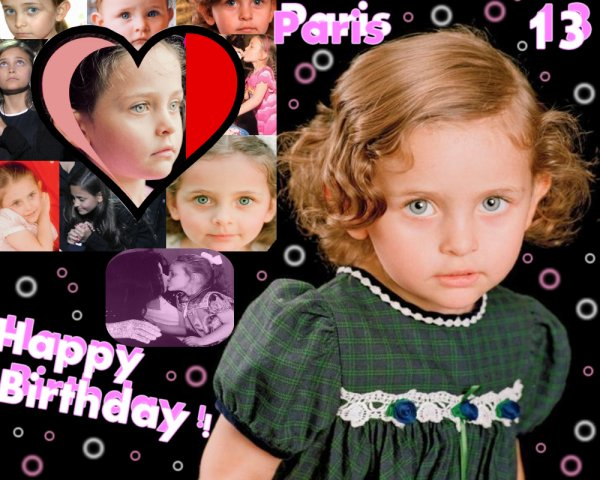 Happy Birthday Paris ! ♥