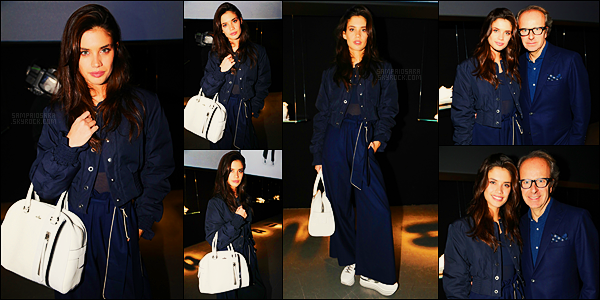 23/02/17 - Sara Sampaio  était présente à la présentation de la nouvelle collection Hogan - dans Milan.  Des explications sur ce pantalon horriblement laid Sara ? Et les chaussures, on en parle ? On dirait bien la miss a oublié son bon gout ...