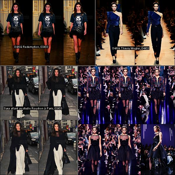 04/03/17 - Sara Sampaio  a participé au défilé d'Elie Saab, collection automne/hiver 2017, dans Paris, FR.  Paris est surement la fashion week la plus dense pour notre Sara, reste à confirmer. Encore deux très belles robes présentées pour Saab.