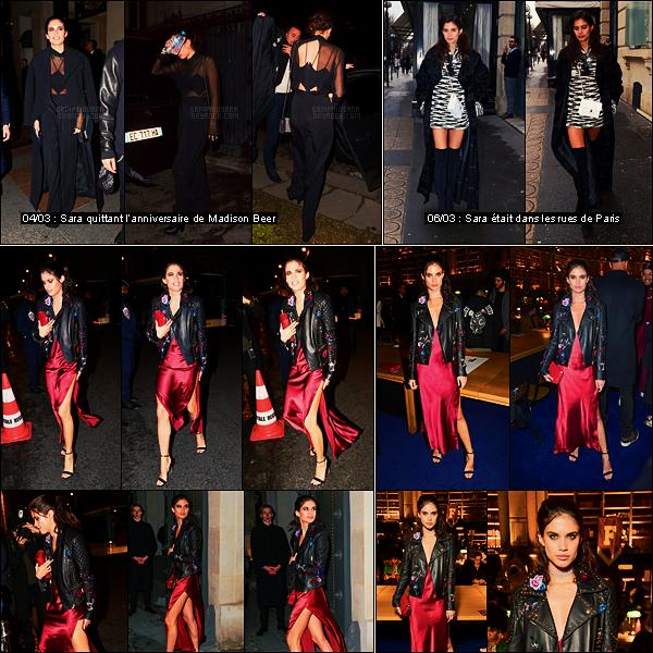 06/03/17 - Sara Sampaio  s'est rendue à l'événement FentyxPuma pendant la Fashion Week de Paris, FR.  Je ne suis pas fan plus que ça de la tenue de Sara, la veste est trop large et ne mets pas en valeur la robe qui a pourtant l'air jolie. Bof..