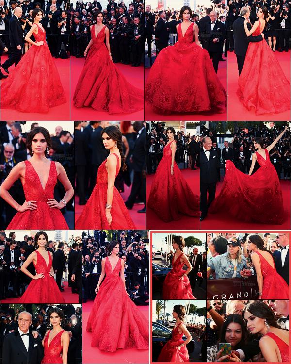 17/05/17 - La jolie Sara Sampaio  a foulé le tapis rouge du Festival de Cannes, dans le sud de la France.  Sara portait une robe signée Zuhair Murad de la collection printemps.Les bijoux quant-à-eux viennent de De Grisogono, tenue sublime